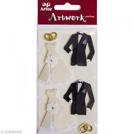 Artoz Artwork 3D Motiv-Sticker 185560-27,'Hochzeitskleider, handmade(1)