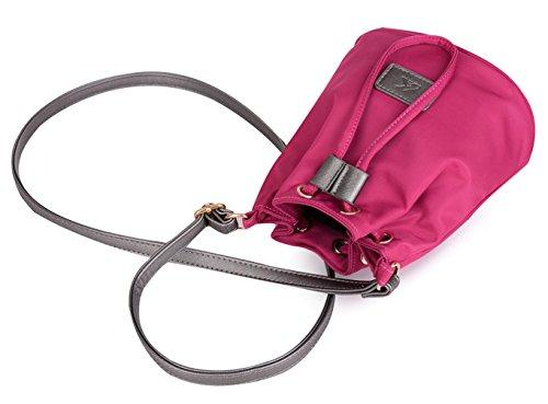 Longzibog Dual verstellbare Schultergurte und Hängeschlaufenband Mode Simple Style Fashion Tote Top Handle Schulter Umhängetasche Satchel Lila