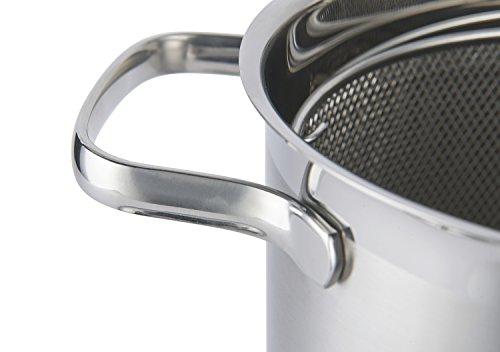 RÖSLE ELEGANCE Pastatopf/Spargeltopf, Edelstahl 18/10, Ø 16 cm, inkl. extrafeinem Siebeinsatz, spülmaschinengeeignet