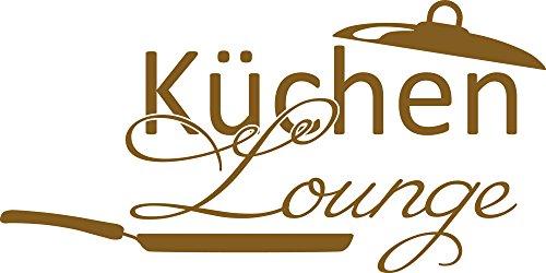 GRAZDesign 620613_30_091 Wandtattoo Wand-Spruch für Küche Küchen-Lounge mit Pfanne | Wand-Worte für Esszimmer Restaurant und Küchen-Rückwände | selbstklebende Klebe-Folie (60x30cm//091 gold) (60 Kuchen-deckel Gold)