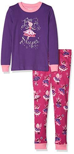 Hatley Mädchen Organic Cotton Long Sleeve Appliqué Pyjama Sets Zweiteiliger Schlafanzug, Violett (Fairy Sleeper), 5 Jahre Cotton Sleeper