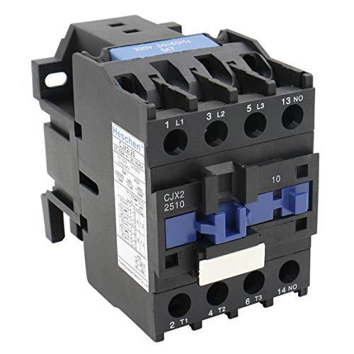 Heschen AC Schütz CJX2-2510 220V 50/60Hz Spule 3P 3-polig normal offen 660V 32A 15KW -