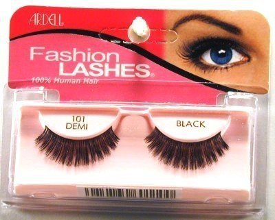 Ardell Fashion Lashes #101 Demi Black (3-Pack) with Free Nail File (Augenwimper)