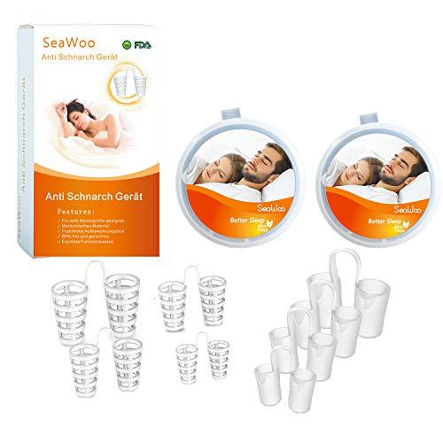 SeWooo Schnarchstopper, Premium Schnarch Stopper, Neuartige Nasenklammer gegen Schnarchen, Hilfe Anti Schnarch, BPA-Frei & Aus Medizinisches Material