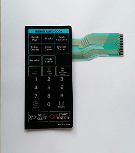 Able MH4048GW Microwave Oven Membrane Keypad (Multicolour)
