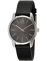 Calvin Klein Damen-Armbanduhr XL City Lady Analog Leder K2G23107