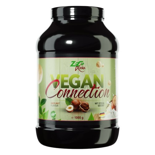 Zec+ Nutrition ZEC+ LADIES Vegan Connection - veganes Proteinpulver für Frauen als Eiweiß-Shake für Fitness & Sport, Geschmack Haselnuss, 1000 g
