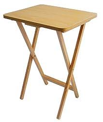 Premier Housewares Folding Snack Table - Natural Wood