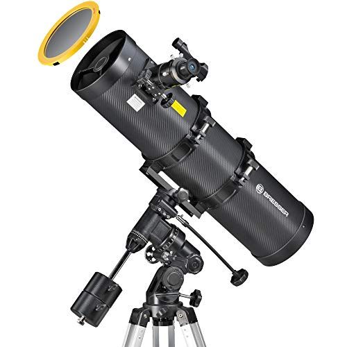 lux 150/750 mit EQ3 Montierung für Nacht und Sonnenbeobachtung durch hochwertigen Objektiv-Sonnenfilter zur gefahrlosen Beobachtung der Sonne ()