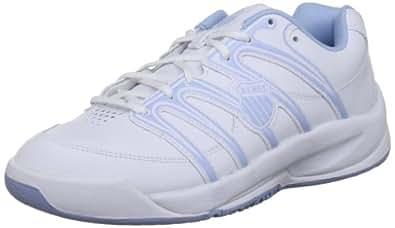 K-Swiss Optim Omni IV, Baskets mode mixte enfant - Blanc (White/Soft Blue), 38 EU