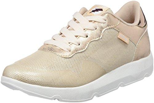 MTNG Garza, Zapatillas Mujer, Multicolor (Action PU Blanco/Glitter Plata), 38 EU