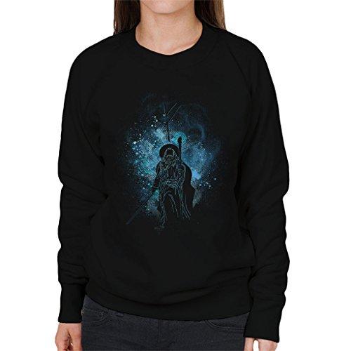 Lord Of The Rings Gandalf Silhouette Women's Sweatshirt Black