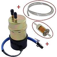 Benzinfilter f/ür Yamaha YZF R1 R6 1000 VMX 1200 Vmax FZS 1000 12V abgewinkelt Eingang 10mm Ausgang 8mm Kraftstoffpumpe Benzinpumpe inkl