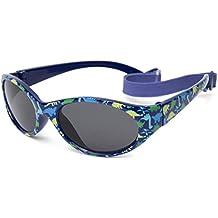 Gafas de sol para niño entre 2 y 6 años, hecho de goma TOTALMENTE FLEXIBLES, 100% protección rayos UVA y UVB, seguras, confortables y muy resistentes, ideal regalo, Kiddus Comfort KI30412