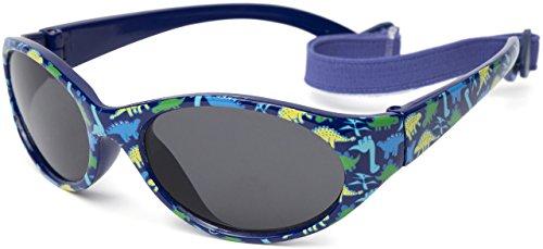 Sonnenbrille für Jungen | Alter/Größe: Kinder 2 bis 5 Jahren | VOLLSTÄNDIG FLEXIBLEM Gummi | 100% UVA- und UVB-Schutz | sicher, bequem und widerstandsfähig | ideales Geschenk | Kiddus Comfort