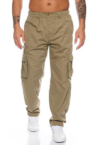 Fashion Herren Thermohose mit Dehnbund - mehrere Farben ID553, Größe:3XL;Farbe:Beige - Herren Thermo Hose