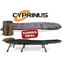 CyprinusTM - Sillón de Pesca para Carpas y Saco de Dormir para 4 Estaciones