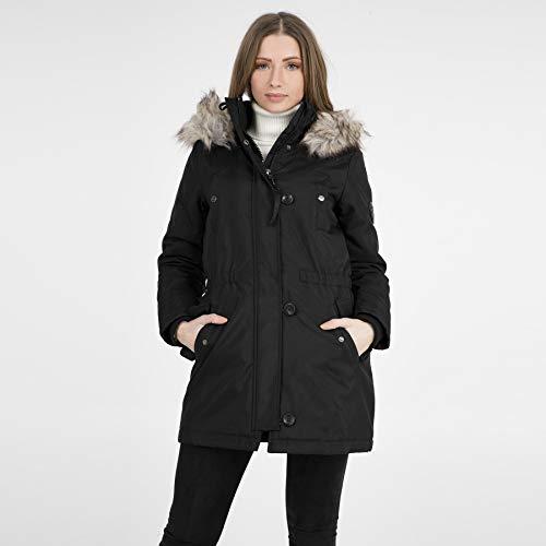 ONLY Damen Parka Winterjacke Kurzmantel Kapuzenjacke Wintermantel (42 (Herstellergröße: XL), Black)