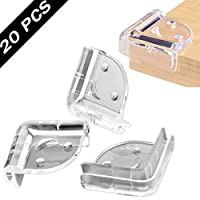 VICSPORT Corner Protectors for Kids, 20pcs Clear Table Furniture Corner Protectors Guards for Baby Child