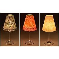 """'Candle Lights/Pantallas de lámpara para copas de vino/deko de pantallas de lámpara/lámpara/Té luz/Lampshades/lámpara pantalla de Juego """"Lorna mesa decorativa, 3piezas)"""