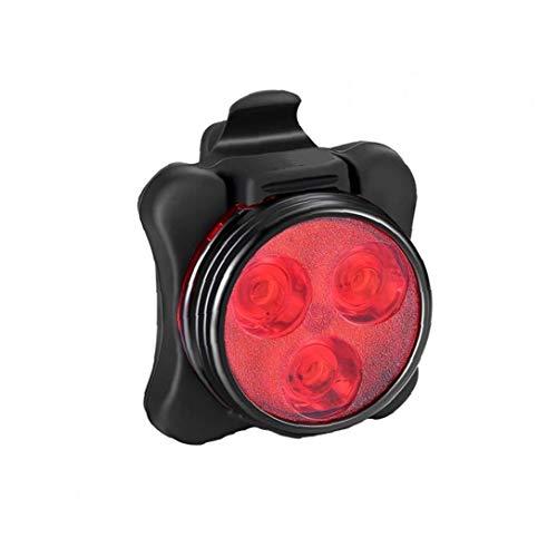 USB Aufladbare Fahrradwasserdichte Licht Rücklicht Hinten Fahrrad-licht-sicherheits-Back Mountain Bike Fit Universal-Clip-Befestigung 1pc Red Belt
