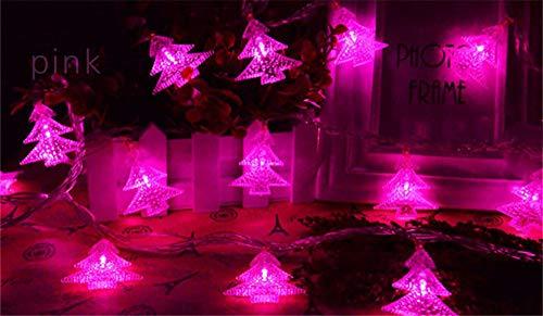 DESESHENME LED Wasserdichte Batterie Box Lichter String Weihnachtsbaum Lichter Urlaub Geburtstag Hochzeit Innenausstattung Lichter Kleine Lichter String 5m 50 Lichter (Keine Batterie), Rosa