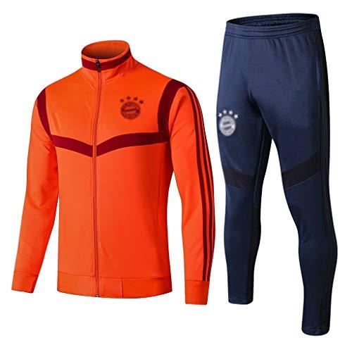 European Football Club Turtleneck Sportfußballtraining Uniform Sweatshirt (Multiple-Choice) CMKA0552 (Color : Orange, Size : XL)