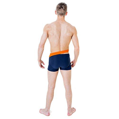 Wink Designs -  Pantaloncini sportivi  - Uomo Navy/Orange