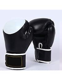 Guantes de Boxeo Profesionales para Adultos Guantes de Boxeo Guantes de entrenamientoNegro12Oz