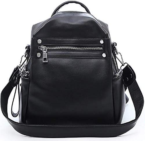 Zhrui Sacs à dos femme Casual Fashion University High School School School sac à dos imperméable à l'eau en cuir noir femme | En Vente  6f73b4
