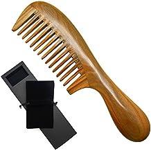 Meta-C nero Moonshape Buffalo Horn Hair Comb with Sandalwood Handle by Meta-C MVcSMMl