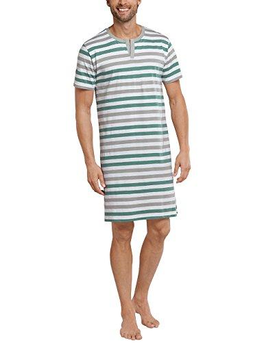 Schiesser Herren Schlafanzugoberteil Nachthemd 1/2, Grün (Grün 700), Medium (Herstellergröße 050)