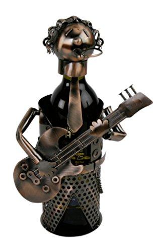 Weinflaschenhalter Gitarrenspieler kupferfarben Flaschenhalter Metall Geschenk Musiker
