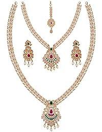 Maalyaa Brass Alloy Ad Full Bridal Set For Women And Girls / Bridal Women. - B07C3L3ZNZ