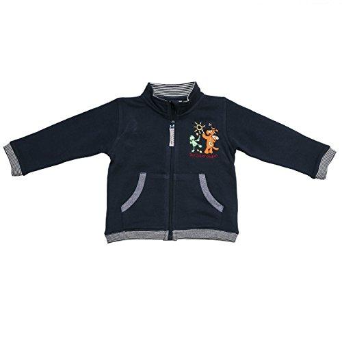 Die Lieben Sieben by Salt & Pepper Unisex Baby Sweatshirt L7 Jacket RV, Einfarbig, Gr. 68, Blau (navy 474) (Pullover Print Zebra)