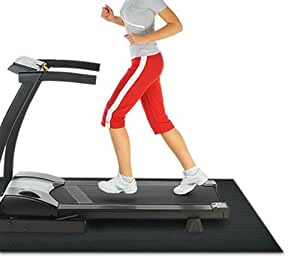 Rubber-Cal Treadmill Mat, Black, 3/16-Inch X 4 X 6.5-Feet