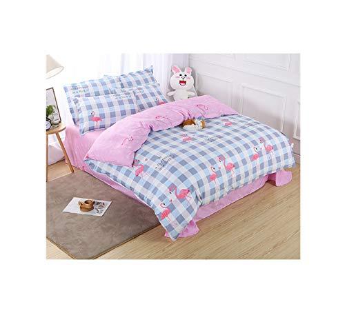 The Unbelievable Dream Bettbezug doppelseitige bettwäsche Set Baumwolle waschbar einfache niedlich Kinder Kinder Erwachsene Traum Flamingo b, 3