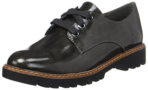 Tamaris Damen 23712 Oxfords, Grau (Anthr Struct), 40 EU