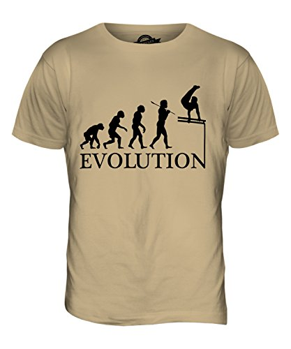 CandyMix Gymnastik Barren Turngerät Evolution Des Menschen Herren T Shirt Sand