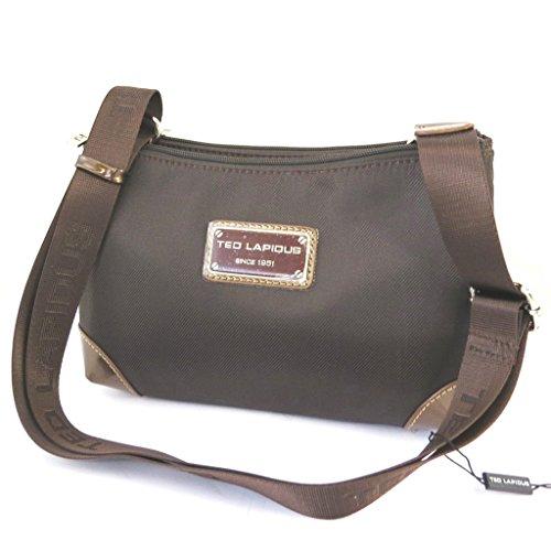 Bolsa de hombro 'Ted Lapidus'marrón (2 compartimientos).