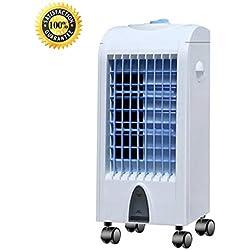 LXY* Climatiseur Portable 3 en 1 avec Fonction de Chauffage, Ventilation et Refroidissement 3 Vitesses de Ventilation avec Mode Veille Blanc