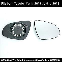 Convex Toyota Auris Mk.1 06-13 Left Hand N//S Non-Heated Wing Mirror Glass