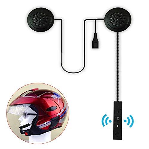 Ainstsk casco cuffia Bluetooth, Bluetooth 4.1moto casco moto altoparlanti stereo cuffie controllo del volume auricolare MP3CD XM radio iPod GPS Phone Music