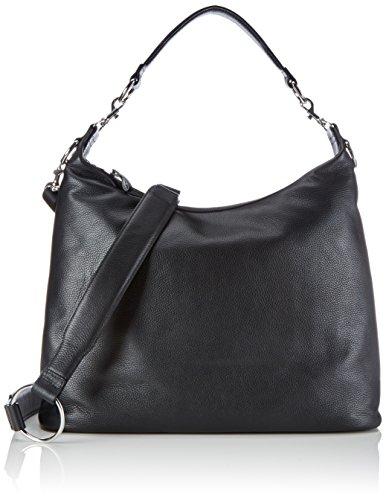 BREE BRIGITTE 6, Schwarz (black 900), Grained Backpack 156900006 Damen Rucksackhandtaschen 46x41x12 cm (B x H x T), Schwarz (black 900)