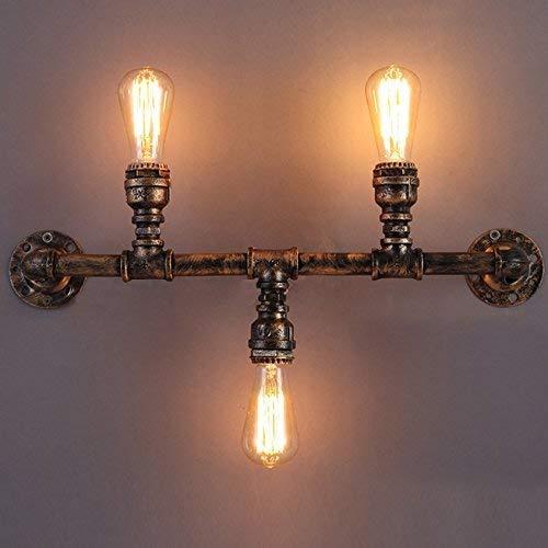 Antike Kupfer-drei-licht (Vintage 22 Breite Wandleuchte Industrieleuchte Innenwandleuchte Antik Kupfer 3 Licht)
