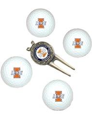 NCAA Illinois 4-Pack Team Golf Ball Gift Set by Team Golf