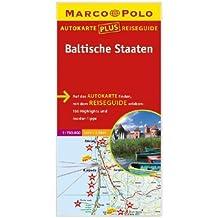 Marco Polo Autokarte plus Reiseguide Baltische Staaten 1:750 000