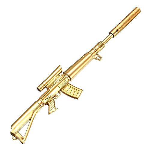 sgerste 1Stück 0,38mm Creative Novelty Cute Gold Gewehr Form Design Schwarz Tinte Kugelschreiber Stationery Supplie -