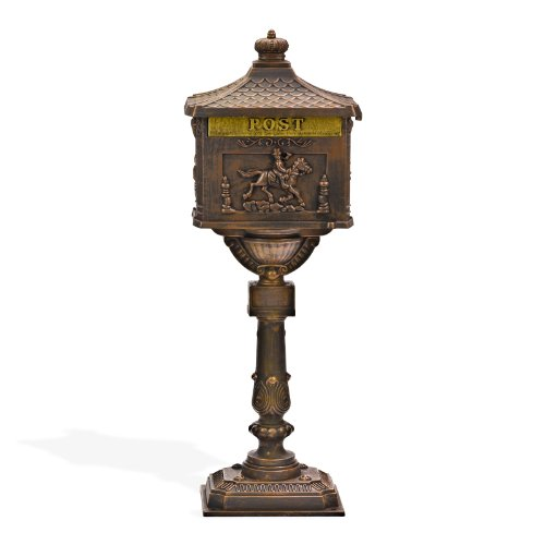"""DEMA Standbriefkasten\""""Antik\"""" Aluguss-bronze"""