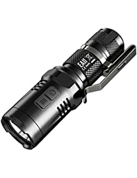 Nitecore EA11 Tiny LED Flashlight, 900 Lumens, (IMR14500/14500/AA) by LightMen LEDFlashlights India